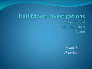 Half Moon Investigations Artemis Fowl 2002 Published Fiction