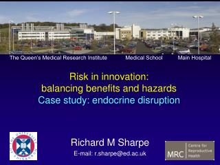 Risk in innovation:  balancing benefits and hazards Case study: endocrine disruption