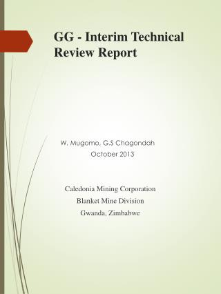 GG - Interim Technical Review Report