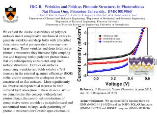 IRG-B:  Wrinkles and Folds as Photonic Structures in  Photovoltaics