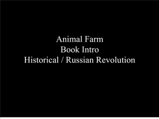 Animal Farm Book Intro Historical