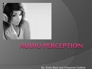 Audio perception