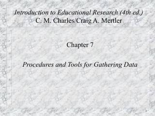 Chapter 7: Constructing Tests and Analyzing Data