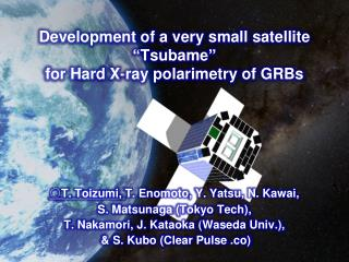 "Development of a very small satellite "" Tsubame "" for Hard X-ray  polarimetry  of GRBs"