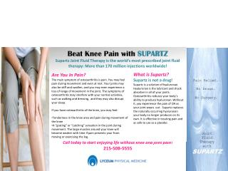 Call today to start enjoying life without knee and joint pain! 215-508-5555