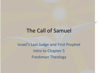 The Call of Samuel