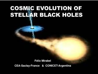 COSMIC EVOLUTION OF STELLAR BLACK HOLES