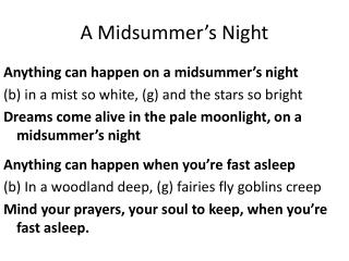 A Midsummer's Night