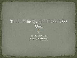 Tombs of the Egyptian Pharaohs SS8 Quiz