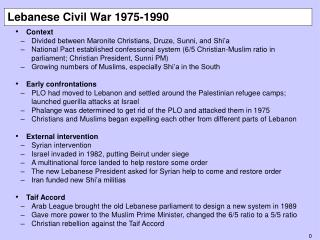 Lebanese Civil War 1975-1990