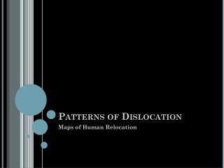 Patterns of Dislocation