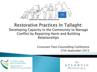 Crosscare  Teen Counselling Conference  27th September 2013