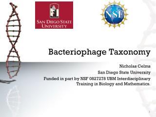 Bacteriophage Taxonomy