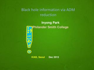 Black hole information via ADM reduction