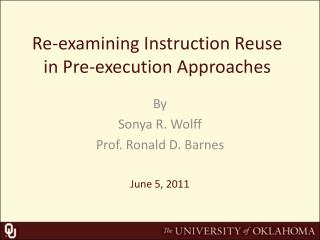 Re-examining Instruction Reuse in Pre-execution Approaches