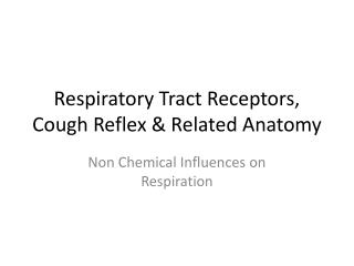 Respiratory Tract Receptors, Cough Reflex & Related Anatomy