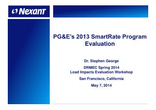 PG&E's 2013 SmartRate Program Evaluation
