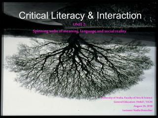 Critical Literacy & Interaction