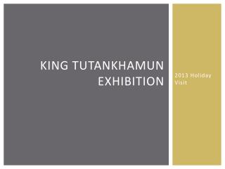 King tutankhamun Exhibition