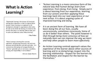 What is Action Learning?