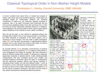Classical Topological Order in Non-Abelian Height Models