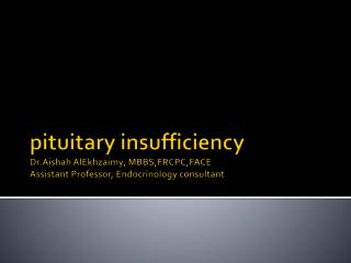 Pituitary  disorder