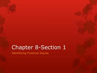 Chapter 8-Section 1