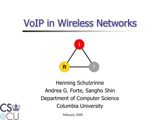 VoIP in Wireless Networks