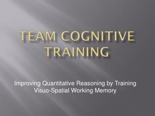 Team Cognitive Training