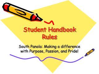 Student Handbook Rules