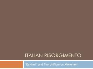 Italian Risorgimento