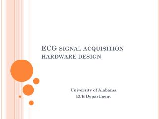 ECG signal acquisition hardware design