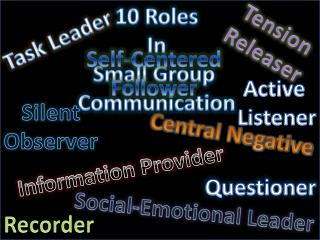 10 Roles In Small Group  Communication
