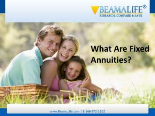 What Are Fixed Annuities