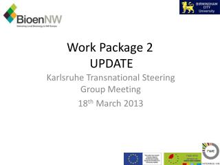 Work Package 2  UPDATE