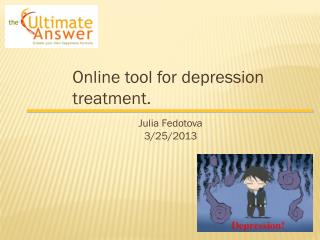 Online tool for depression treatment.