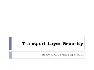 Transport Layer Security