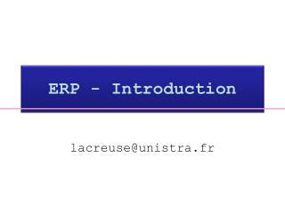 ERP - Introduction