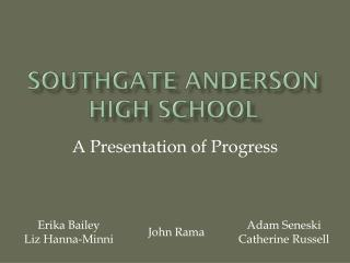 Southgate  anderson  high school