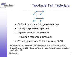Two-Level Full Factorials