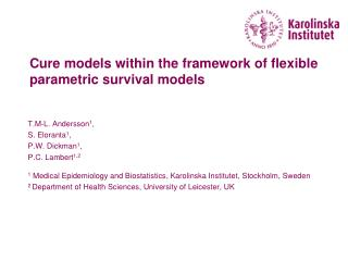 Cure models within the framework of flexible parametric survival models