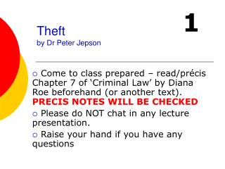 Theft by Dr Peter Jepson