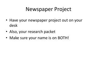 Newspaper Project