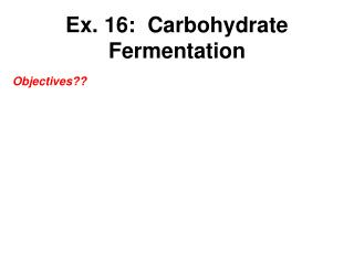 Ex.  16:   Carbohydrate Fermentation