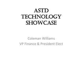 ASTD  Technology Showcase