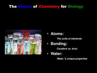 The  Basics  of  Chemistry  for  Biology