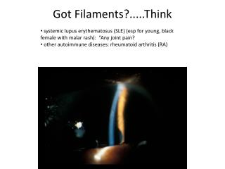 Got Filaments?..... Think