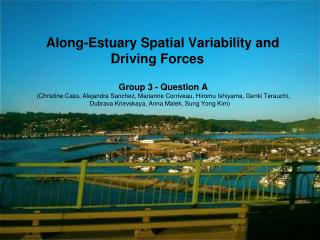 Along-Estuary Spatial Variability and Driving Forces