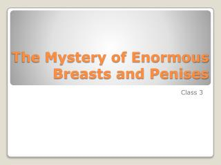 The Mystery of Enormous Breasts and Penises