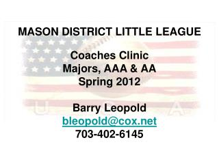 MASON DISTRICT LITTLE LEAGUE